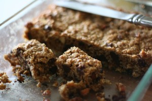 Oatmeal Coconut Chocolate Chip Bars